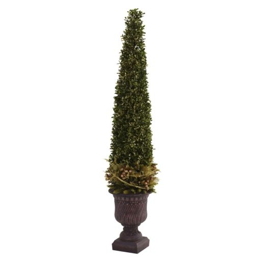 nearly natural 3 1/4-ft. Mixed Boxwood and Holly Topiary