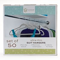Cohesion 50-pk. Flocked Suit Hangers