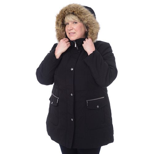 3921682a4ce Plus Size Croft   Barrow® Hooded Quilted Parka