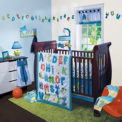 Lambs & Ivy Alpha Baby 4 pc Crib Set
