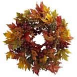 nearly natural Maple & Berry Wreath