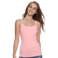Juniors' SO® Scoopneck Satin-Trim Cami Tank Top