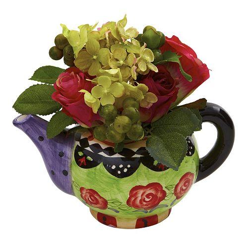 nearly natural Rose & Hydrangea Arrangement