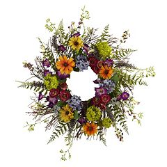 Click here to buy nearly natural Spring Garden Wreath.