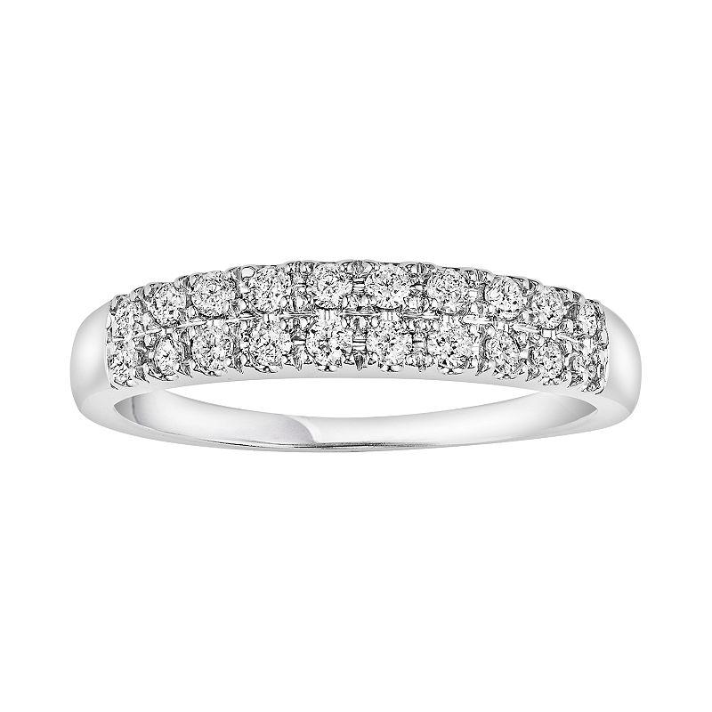 Simply Vera Vera Wang 1/3 Carat T.W. Diamond 14k White Gold Wedding Ring