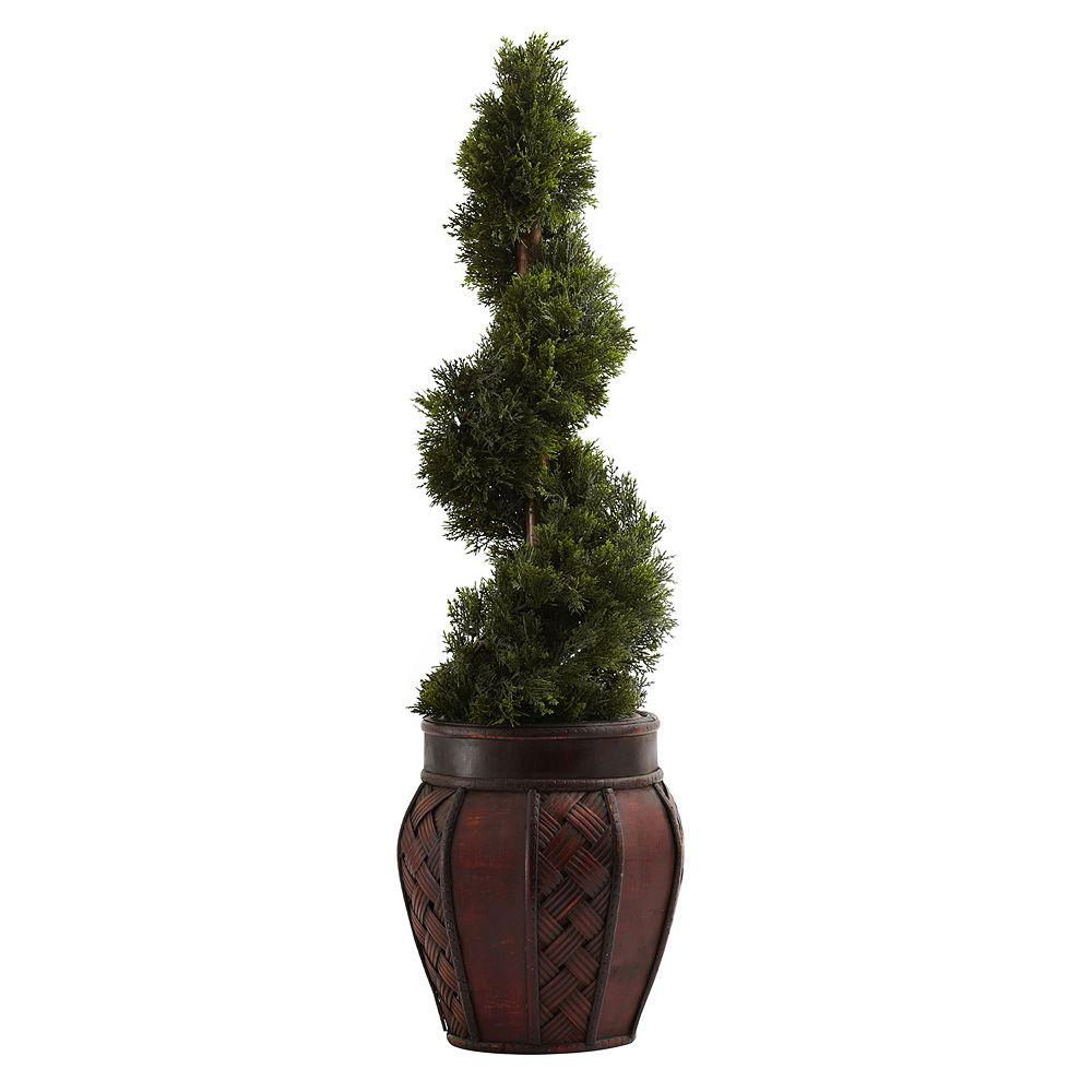 nearly natural Cedar Spiral Tree