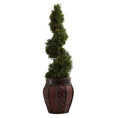 nearly natural Cedar Spiral Tree