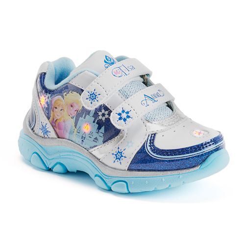 2fe499f3c58b Disney Frozen Elsa   Anna Light-Up Athletic Shoes - Toddler Girls