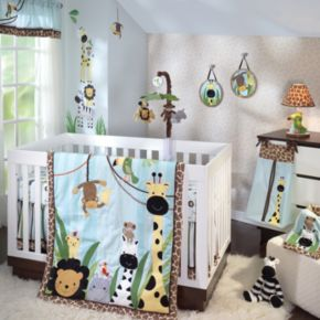 Lambs and Ivy Peek A Boo Jungle 4-pc. Crib Set