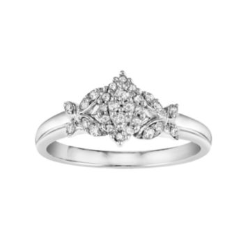 Simply Vera Vera Wang Diamond Marquise Butterfly Engagement Ring