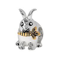 Individuality Beads Sterling Silver & 14k Gold Over Silver Rabbit Bead