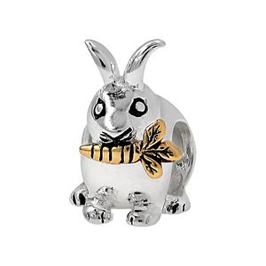 Individuality Beads Sterling Silver and 14k Gold Over Silver Rabbit Bead