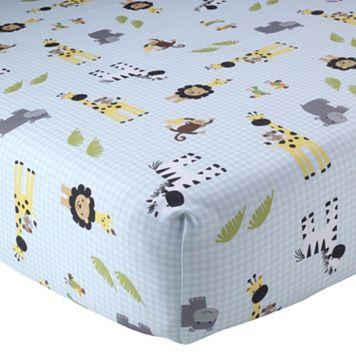 Lambs & Ivy Peek A Boo Jungle Crib Sheet