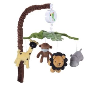 Lambs and Ivy Peek A Boo Jungle Musical Mobile