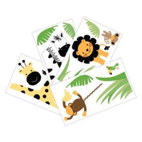 Lambs and Ivy Peek A Boo Jungle Wall Decals