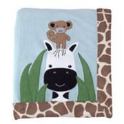 Lambs & Ivy Peek A Boo Jungle Receiving Blanket