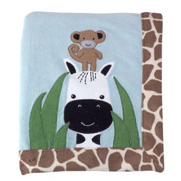 Lambs & Ivy Peek A Boo Jungle Receiving Blanket