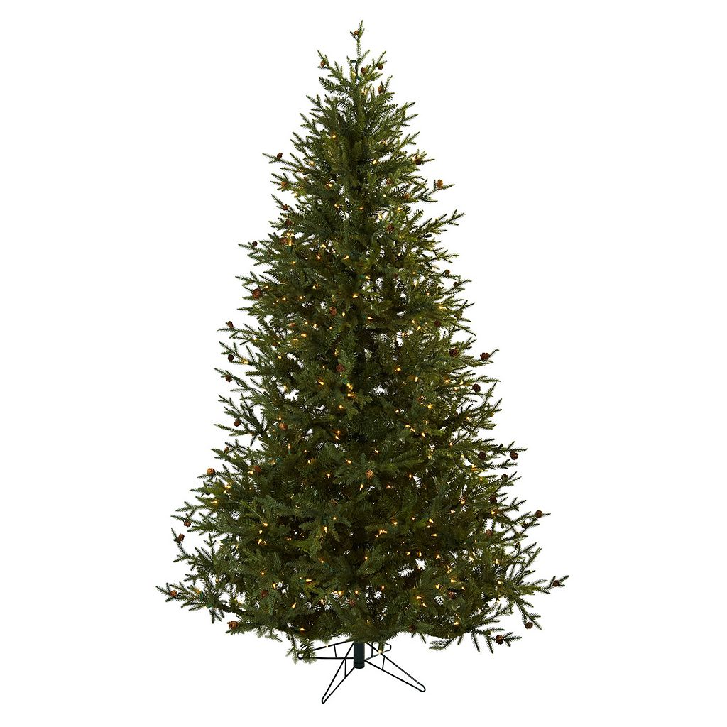 nearly natural 7 1/2-ft. Classic Pine Pre-Lit Artificial Christmas Tree - Indoor