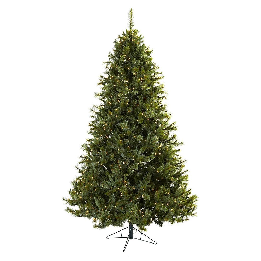 nearly natural 7 12 ft majestic pine pre lit artificial christmas tree indoor - 7 Christmas Tree