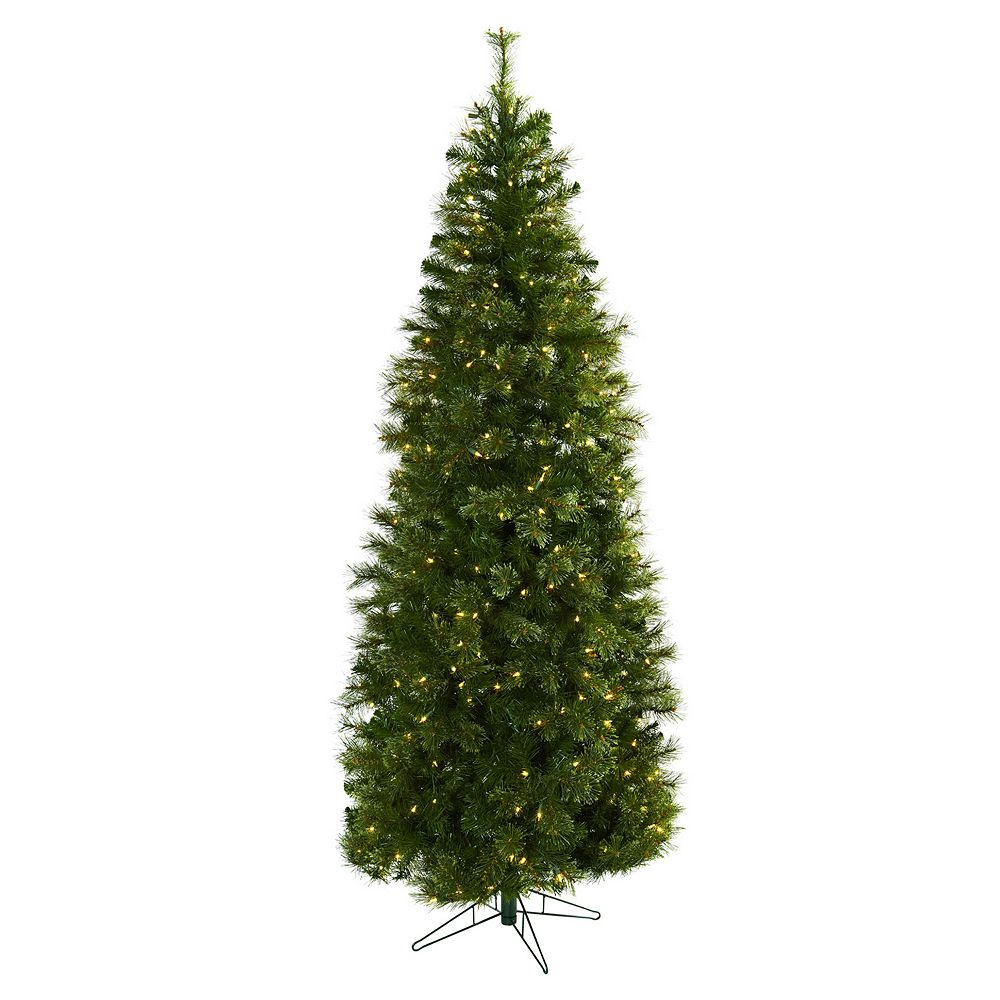 nearly natural 7 1/2-ft. Cashmere Slim Pre-Lit Artificial Christmas ...