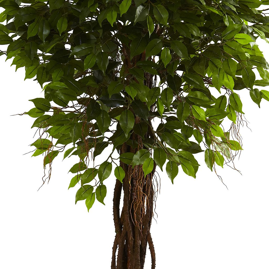 nearly natural 7 1/2-ft. Potted Ficus Tree - Indoor and Outdoor