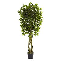 nearly natural 5 1/2-ft. Potted Ficus Tree - Indoor & Outdoor