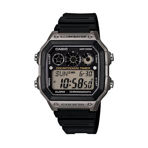 Casio Men's Digital Chronograph Watch - AE1300WH-8AVCF