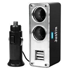 Innovative Technology Justin 4-Port Auto Power Adapter
