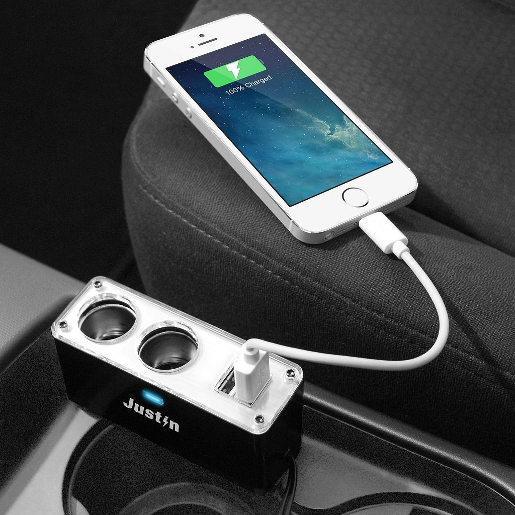 Innovative Technology Justin 4-Port Auto Power Adapter