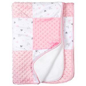 Just Born Thank Heaven for Little Girls Bunny Sherpa Pink Baby Blanket Kohls