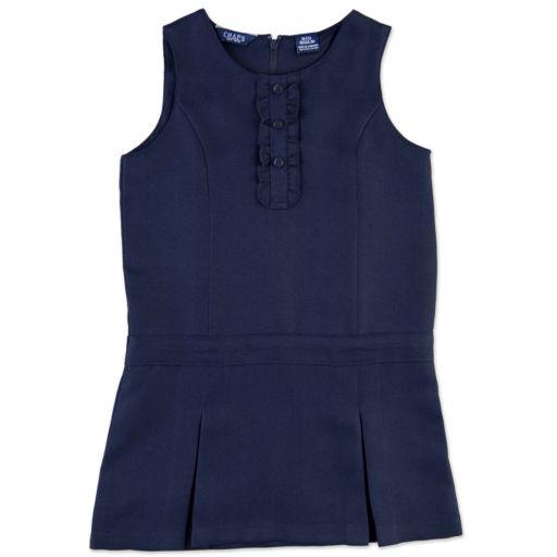 Girls 4-6x Chaps Pleated Ruffled School Uniform Jumper