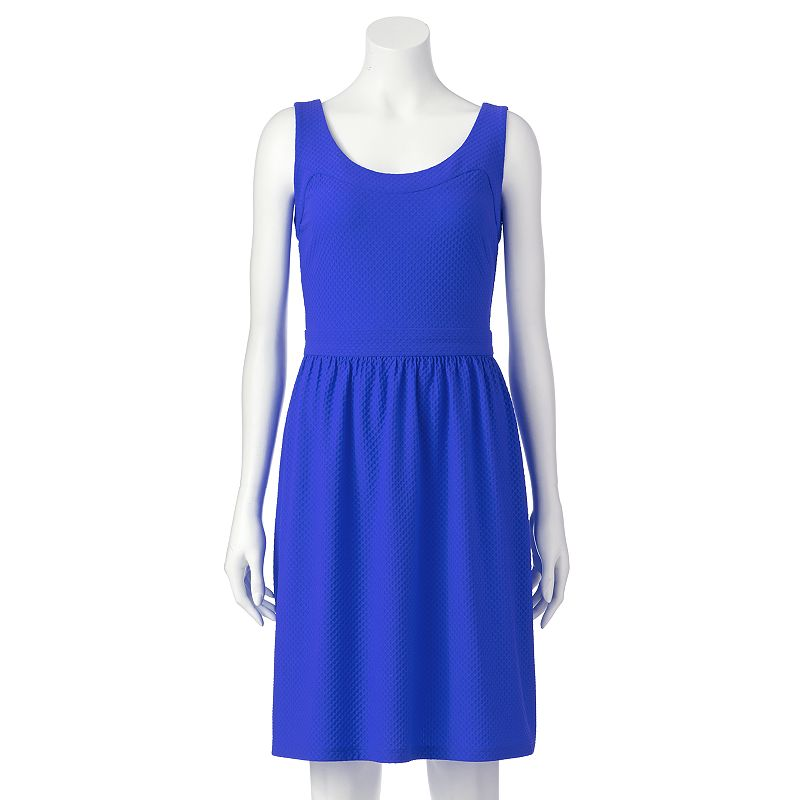 Ronni Nicole Textured Fit & Flare Dress - Women's
