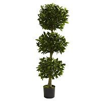 nearly natural 5-ft. Potted Triple Bay Leaf Topiary - Indoor & Outdoor