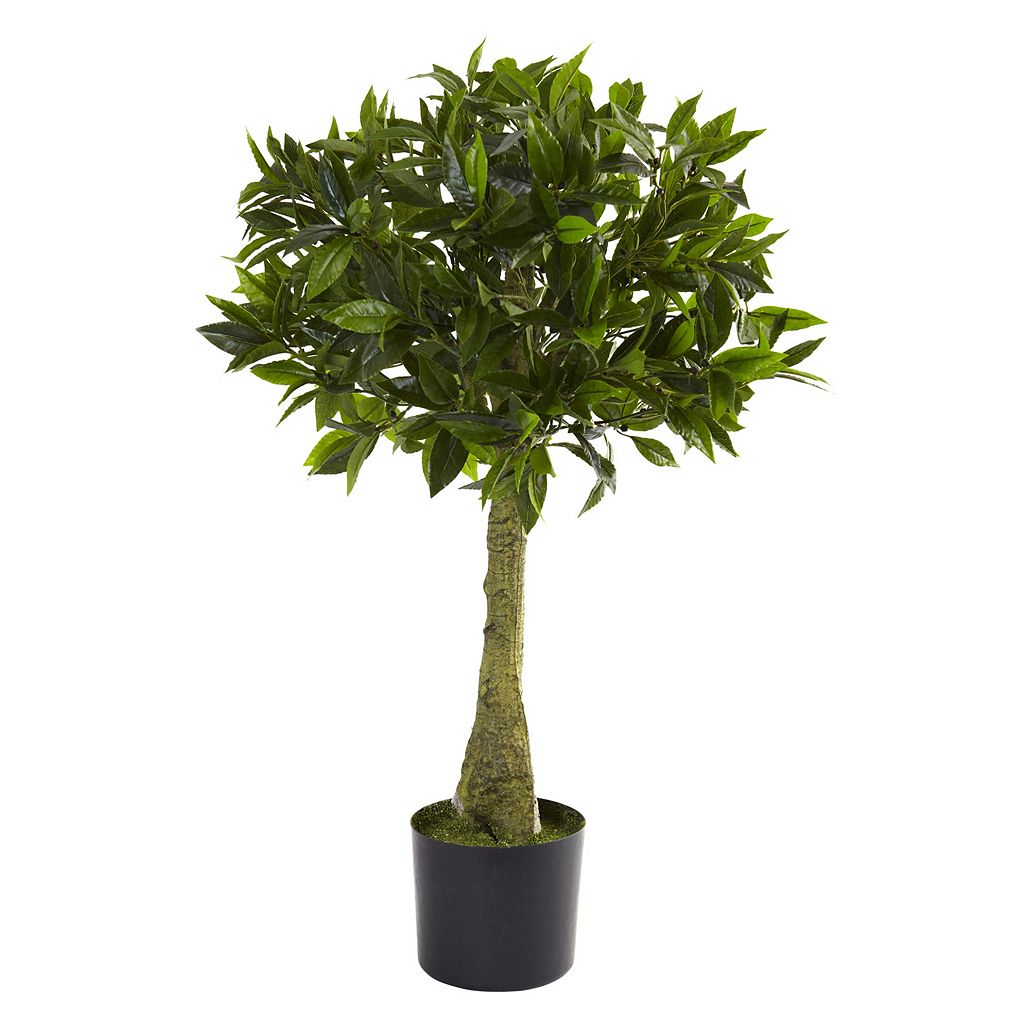 nearly natural 3-ft. Bay Leaf Topiary - Indoor & Outdoor