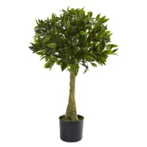 nearly natural 3-ft. Bay Leaf Topiary - Indoor and Outdoor