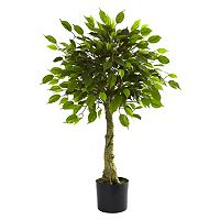 nearly natural 3-ft. Potted Ficus Tree - Indoor & Outdoor