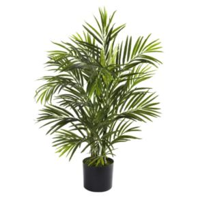 nearly natural 2 1/2-ft. Potted Areca Palm Tree - Indoor and Outdoor