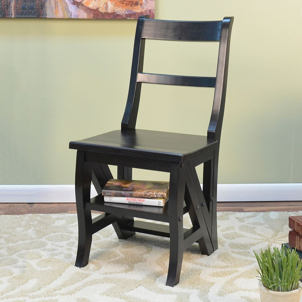 Carolina Cottage 2-in-1 Library Ladder Folding Chair