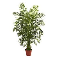 nearly natural 4 1/2-ft. Potted Areca Palm Tree - Indoor & Outdoor