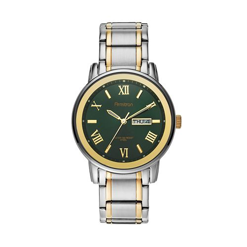 Armitron Men's Two Tone Stainless Steel Watch
