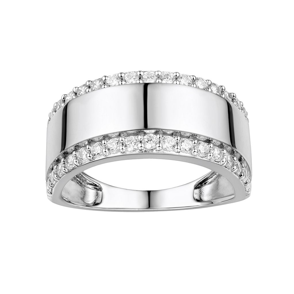 DiamonLuxe Sterling Silver Cubic Zirconia Ring