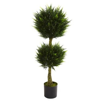 nearly natural 4-ft. Potted Double Ball Cypress Topiary - Indoor & Outdoor