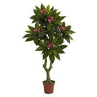 nearly natural 5-ft. Plumeria Tree - Indoor & Outdoor
