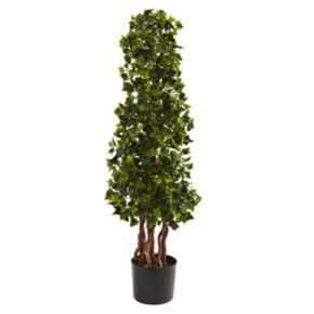 nearly natural 3 1/2-ft. Potted English Ivy Spiral Tree - Indoor and Outdoor