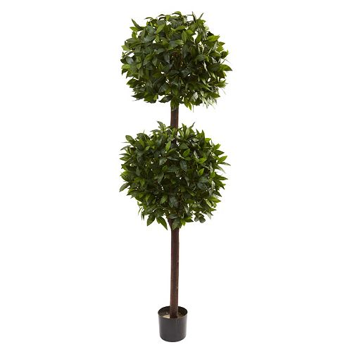 nearly natural 6-ft. Potted Sweet Bay Double Ball Topiary - Indoor & Outdoor