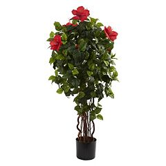 nearly natural 4-ft. Potted Hibiscus Tree