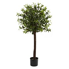 nearly natural 4-ft. Potted Olive Topiary