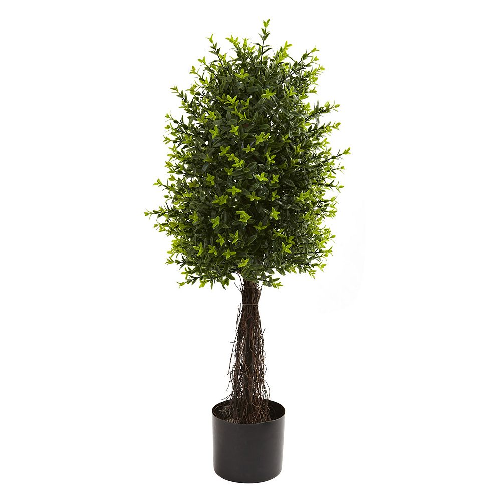 nearly natural 2.91-ft. Potted Ixora Topiary - Indoor & Outdoor