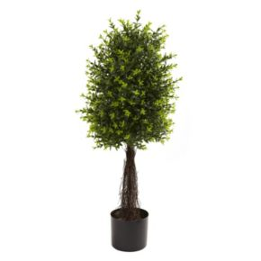nearly natural 2.91-ft. Potted Ixora Topiary - Indoor and Outdoor