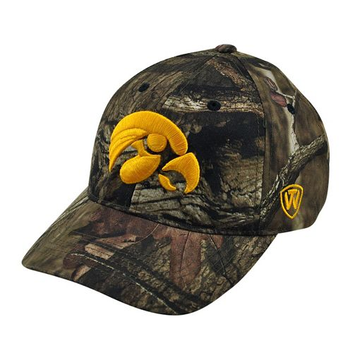 Adult Top of the World Iowa Hawkeyes Resistance Mossy Oak Camouflage Adjustable Cap